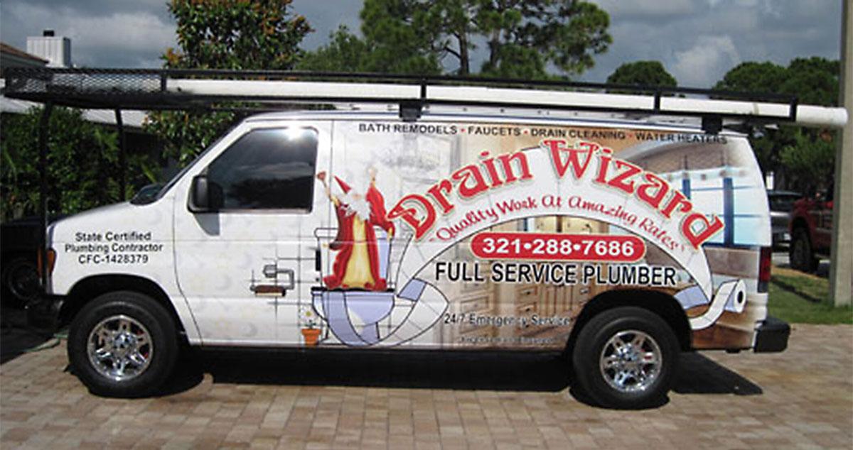 Drain Wizard Plumber Rockledge FL Van